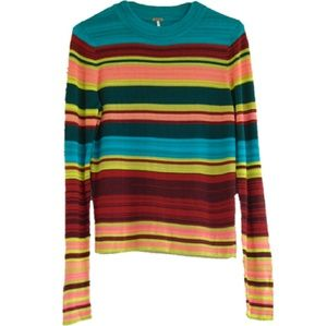 Free People Show Off Your Stripes Top, Size Small